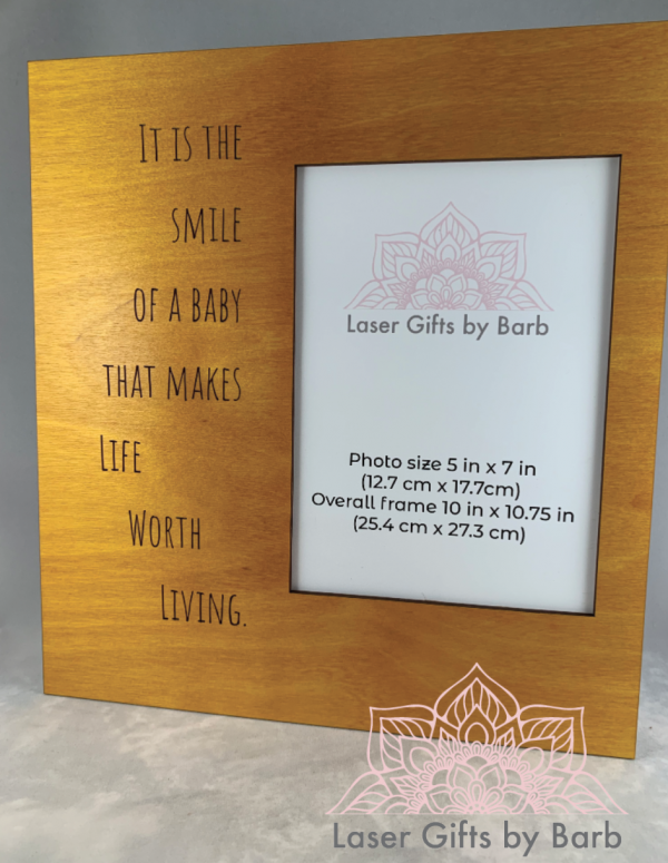 Picture frame - It is the smile of a baby that makes life worth living