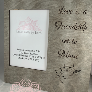 Picture frame - Love is a friendship set to music