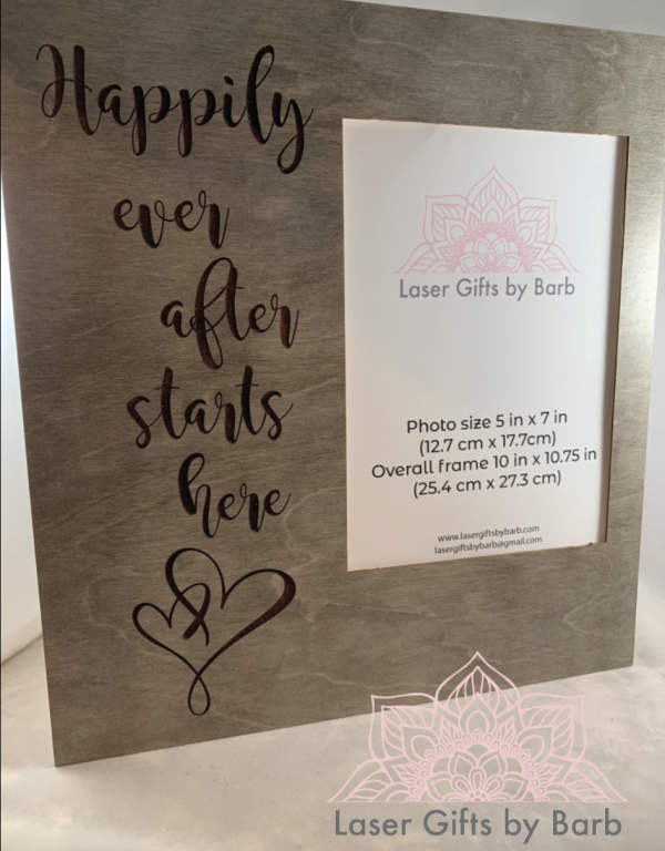 Picture frame - Happily ever after starts here
