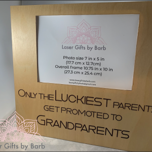 Picture frame - Only the luckiest parents get promoted to grandparents