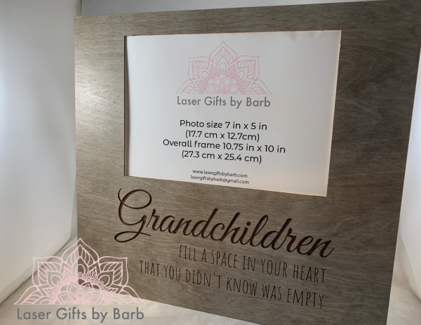 Picture frame - Grandchildren fill a space in your heart that you didn't know was empty