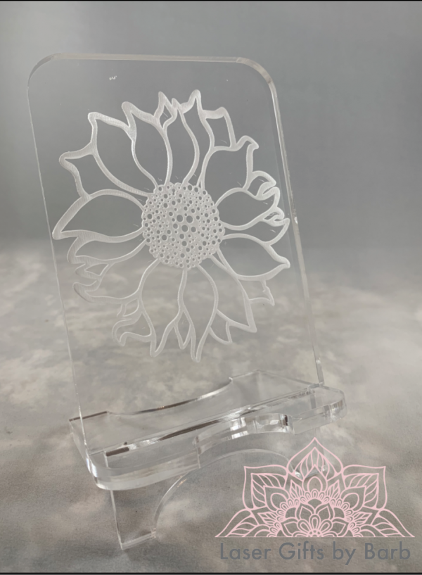 cell phone stand - sunflower